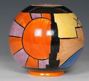 Globe Vase - note the handpainting