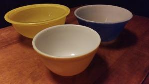 Pyrex Colored Bowls
