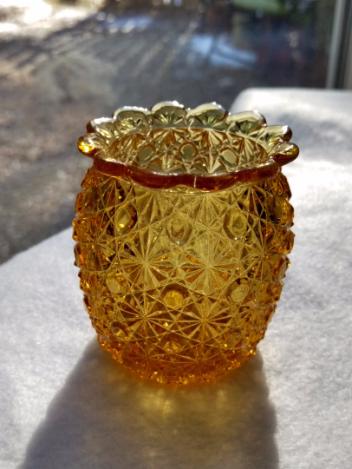 Amber Tea Light Holder